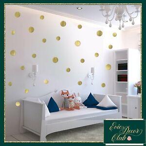 Polka Dots Wall Stickers GOLD Decal Child Vinyl Decor Spots Circle Baby Nursery