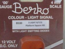 YELLOW LED Berko BL37 NEW SINGLE DUSTPAN HEAD TWIN PACK