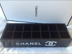 Chanel CC Acrylic Black Vanity Makeup Box with 14 compartments New Xmas