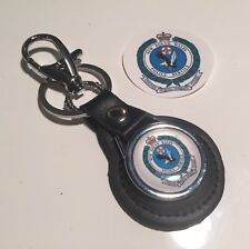 Australian Police ' New South Wales' Real Leather Keyring & Sticker