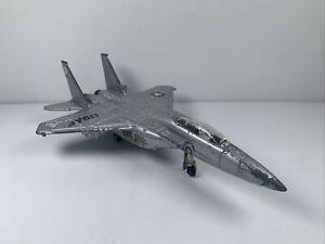 ERTL USAF DIE CAST JET PLANE Jet Vintage Pullout Wheels Silver Metallic