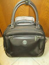 Chaps Brown Carry-On Luggage Laptop Wheels Tote Rolling Briefcase Laptop Compact