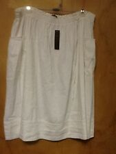 NWT Theory White Crunch Cloth Skirt Size Large $295
