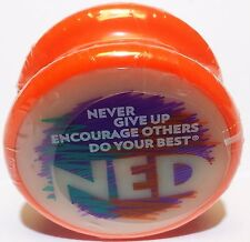 """NED YO Yo-Yo Glow-in-the-dark face """"NEVER GIVE UP ENCOURAGE OTHERS DO YOUR BEST"""""""