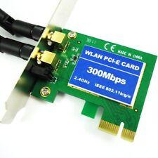 AKORD 300Mbps Wireless 11N WiFi PCI-E Network Adapter LAN Card + Antennas Des...