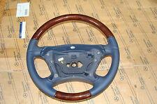 1 Mercedes E klasse Holzlenkrad Leder Holz Lenkrad r230 W219 W209 CLK SL CLS neu