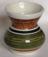 Vintage Small Sgraffito Vase - Dragon Pottery Rhayader