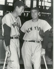 "JOE DiMAGGIO  & TED WILLIAMS   B & W Large Reprint 11"" x 14"""