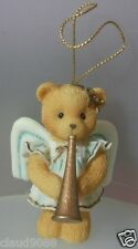 """CHERISHED TEDDIES """"ANGEL WITH TRUMPET HANGING ORNAMENT"""" 912980T  MINT IN BOX"""