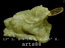 JADE Money Frog 3 Legged TOAD Prosperity to Wealthy # 12