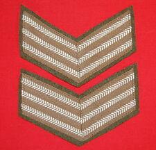 Canadian Military Rank Stripes- 3 bar (Sergeant) - Khaki Chevrons