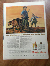1944 Budweiser Beer Ad - The Minuteman Man of the Hour 1944 Shell Oil Ad WW II