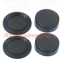 2 Pcs x Rear Lens Cover + Camera Body Cap for Nikon DSLR replaces LF-1 BF-1B