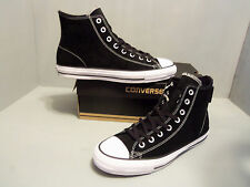 Converse #144587c CTAS Pro Suede HiTop Black Men's Skateboarding Shoe Sizes 9