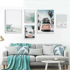 Modern Prints Scandinavian Tropical Landscape Posters Sea Beach Bus Art Painting