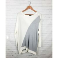 Vince Camuto 2X Scoop Neck Long Sleeve Knit Sweater