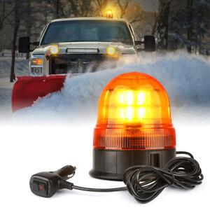 Xprite Yellow 12 LED Round Strobe Light Rooftop Rotating Beacon Lights Trucks