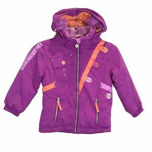 Obermeyer Girls Karma Jacket Snow Ski Purple I-Grow System Hooded Size 4
