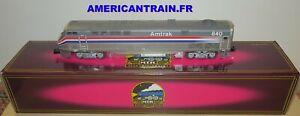 Locomotives diesel Amtrak G.E. Genesis #840 DUMMY 3 rails échelle O MTH