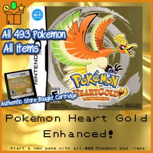 Pokemon Heart Gold Enhanced With all 493 Pokemon Shiny or Nonshiny + Max Items