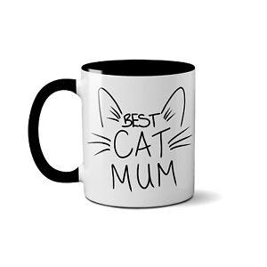 Best Cat Mum 10 Oz Mug Cute Novelty Gift Present For Lover Of Cats Kittens Black