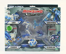 MONSUNO core-tech team pack GLOWBLADE QUICKFORCE LOCK CHARGER figures toys NEW!
