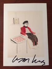 DAVID HOCKNEY HAND-SIGNED OFFSET LITHOGRAPH, HOMAGE TO MAN RAY, DADA 1974