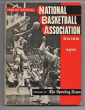 1966-67 Official NBA National Basketball Association Guide Sporting News