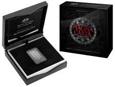 2015 $5 800th ANNIVERSARY MAGNA CARTA SILVER ANTIQUE RECTANGULAR COIN