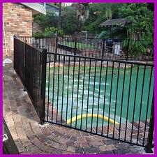 Black or Primrose  2400Longx1200high Pool Fence Flat Top or Glass, Garden Fence