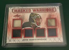 2017-18 LEAF HOCKEY MASKED WARRIORS 6 PIECE MEM 12/12 John Vanbiesbrouck