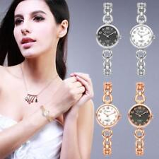 Fashion Womens Stainless Steel Band Casual Rhinestone Quartz Wrist Watch Watches