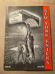 NBA New York Knicks 1958-59 Press Guide Media Guide Yearbook