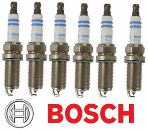 For Volvo XC60 V70 S80 XC90 Set Of 6 Spark Plugs FR 7 NI 33 Bosch 0242236538