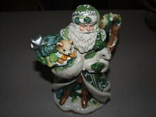 Fitz and Floyd Christmas - Winter Garden - Santa Teapot - MIB