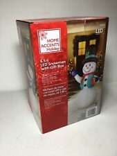Home Accents Holiday 6.5 Ft. Inflatable Airblown - Snowman Snow Man