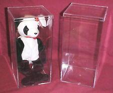 "Omnibox Individual Beanie Baby Plastic Display Case w/lid 4"" x 4"" x 8""  USA"