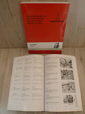 Werkstatthandbuch Deutz Dieselmotor F1L 511 – F2L 511 und F1L 511W – F2L511W
