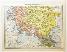 HISTORICAL MAP SOUTHERN RUSSIA 1682-1914 CRIMEA KUBAN DISTRICT VOLHYNIA UKRAINE