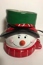 Tuscany Candle Electric Fragrance Bar Warmer Snowman Full Size Working Pre-owned