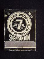 GOULBURN VALLEY HOTEL MOTEL AFTER 7 LIVE DISCO SHEPPARTON 058 219788 MATCHBOOK
