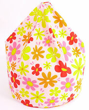 Large / Adult / Teen Summer Flowers Bean Bag With Beans By Bean Lazy