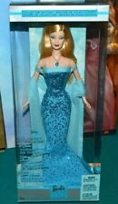 NIB-2002 THE BIRTHSTONE COLLECTION BARBIE DOLL - TURQUOISE BLUE - BLONDE VERSION