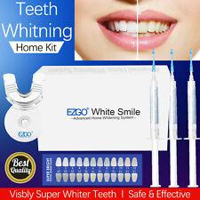 EZGO White Smile Teeth Whitening Kit Tooth Bleaching Whitener Gel LED Light Tray