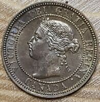 Canada 1900 H One Cent AU+ Super Slider Check It Out!!  KM# 7  #AA338-n