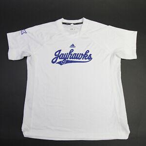 Kansas Jayhawks adidas Short Sleeve Shirt Men's White Used