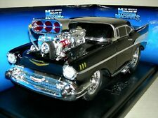 57 CHEVY BEL-AIR IN GLOSS BLACK . 2001 MUSC.MAC. MIB. 1:18 SCALE