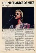 Genesis Mike Rutherford Guitarist Interview Clipping TRANSPARENCY