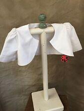 LADYBUG COLLECTION White Formal SILKY BOLERO JACKET Short Sleeved SHRUG Girls 3
