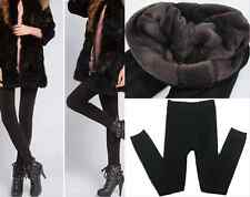 Fashion Black New Women Winter Thick Fleece Lined Thermal Tights Pants